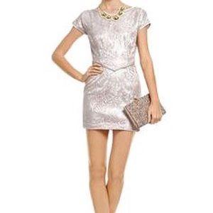 Radenroro New York lace & silk occasion mini dress